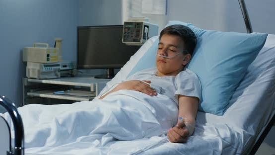 Thumbnail for Teenager Boy Lying in Hospital