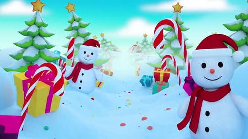 Christmas Background Loop
