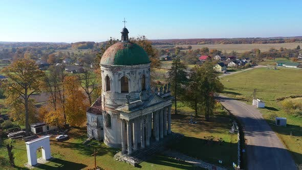 Thumbnail for Aerial Drone Footage of an Ancient Church in Pidhirtsi Ukraine