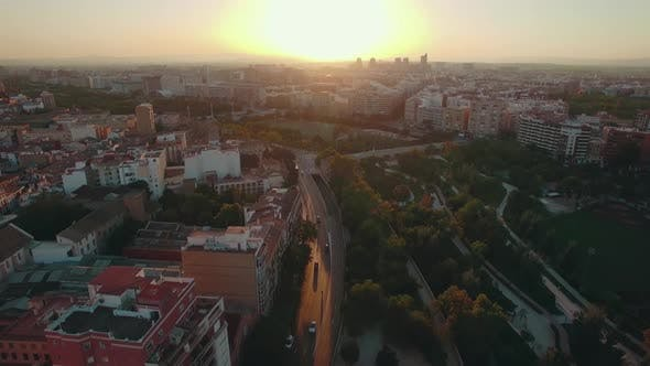 Thumbnail for Valencia at Sunset, Aerial View