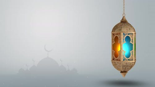 Ramadan lantern arabic culture decoration eid mubarak festival ramzan White Background