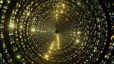 Luxury In Gold Chain Tunnel 05 4K