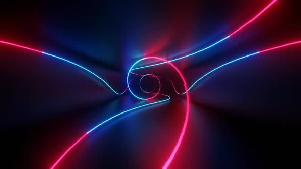 Thumbnail for Spiral Neon Tunnel