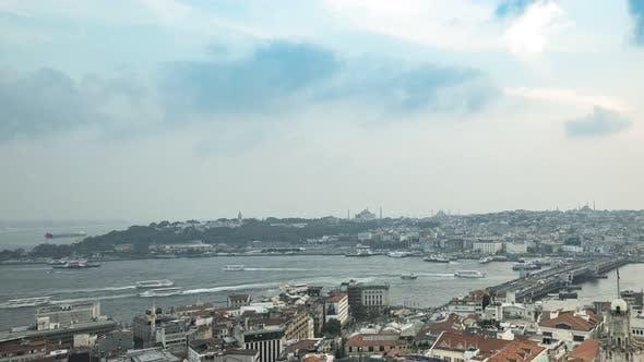 Thumbnail for Istanbul Galata Rotating Sunset Time-Lapse