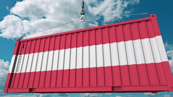 Thumbnail for Container with Flag of Austria