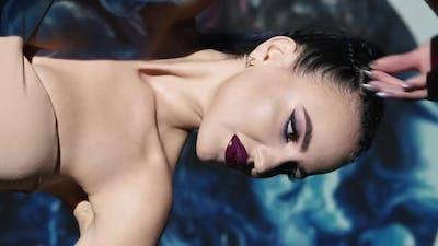 Fashion Beauty Stylish Female Portrait Glamour