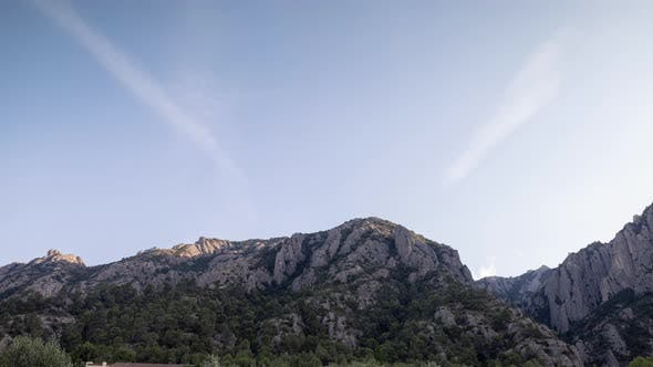 Lopable Timelapse of Clouds Passing Over Montserrat in Barcelona