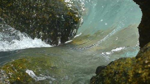 Waves Rolled Through Coastal Cliffs