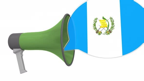 Loudspeaker and Flag of Guatemala on the Speech Bubble