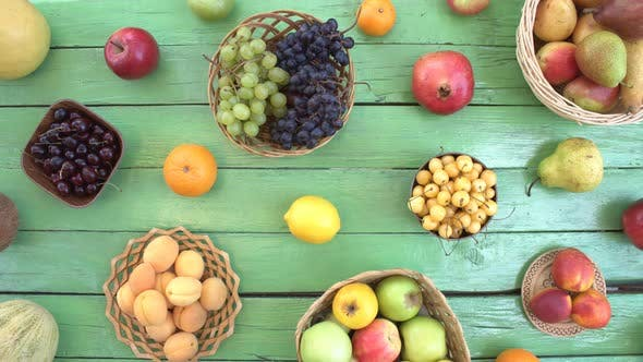 Thumbnail for Fruits on Green Ecological Background