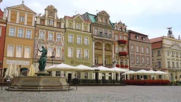 Thumbnail for Blick auf den Hauptplatz Rynek der polnischen Stadt Posen