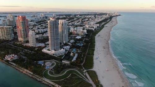 Miami South Beach aerial footage, USA
