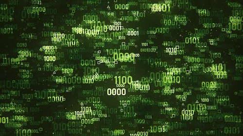 Green Digital Binary Code