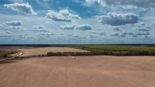 Thumbnail for Agriculture field landscape. Aerial view over the agricultural field