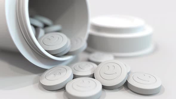 Pills with Stamped Smiley