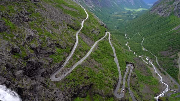 Thumbnail for Trolls Path Trollstigen or Trollstigveien Winding Mountain Road