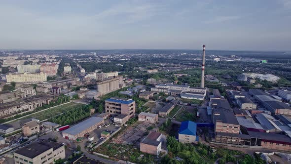 Industrial Building From Above