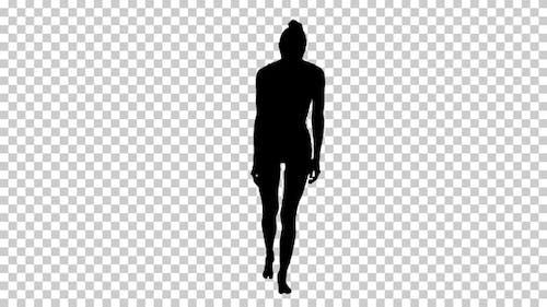 Silhouette  model walking , Alpha Channel