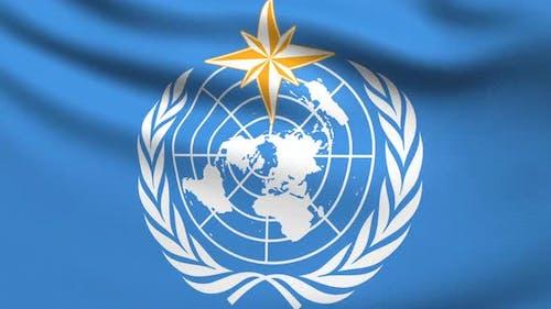 Weltflagge der Meteorologischen Organisation