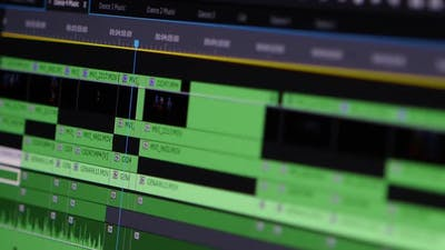 Video Editing Software Going Through The Timeline Frame