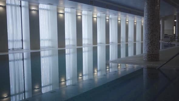 Thumbnail for Wide Shot of Luxurious Swimming Pool in Spa Hotel. Concept of Luxury Tourism, Relaxation
