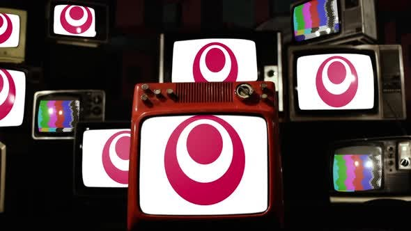 Thumbnail for Flag Of Okinawa Prefecture, Japan, and Retro TVs.