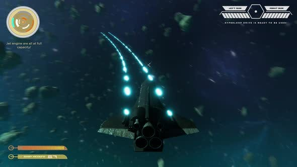 Mock Up SciFi Space Shooter Video Game Simulation