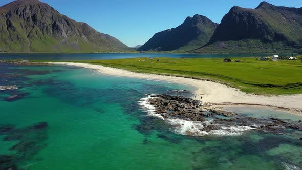 Thumbnail for Beach Lofoten Islands Is an Archipelago in the County of Nordland, Norway.