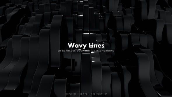 Thumbnail for Wavy Stripes Black 10