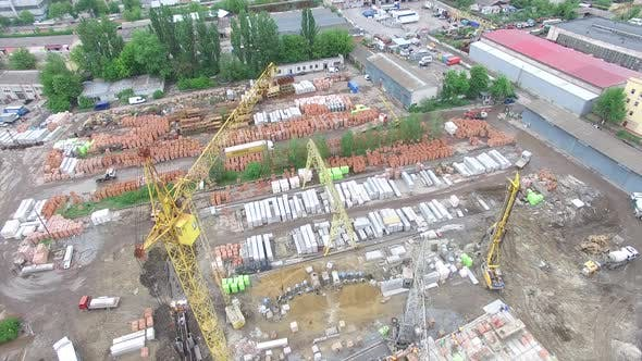 Tower Crane Build Large Residential Building