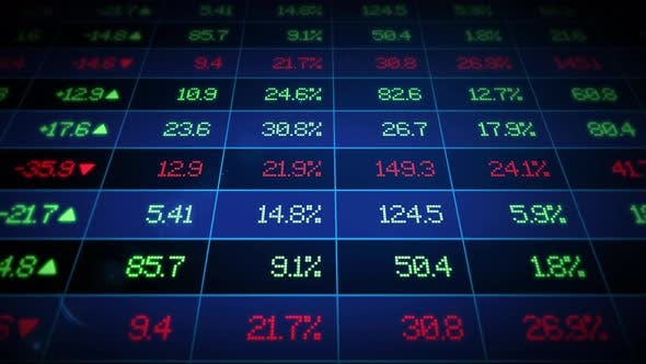 Thumbnail for Stock Market Ticker Board