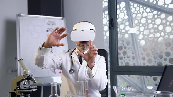 Thumbnail for Male Doctor Conducting Medical Procedure Using Augmented Reality Glasses