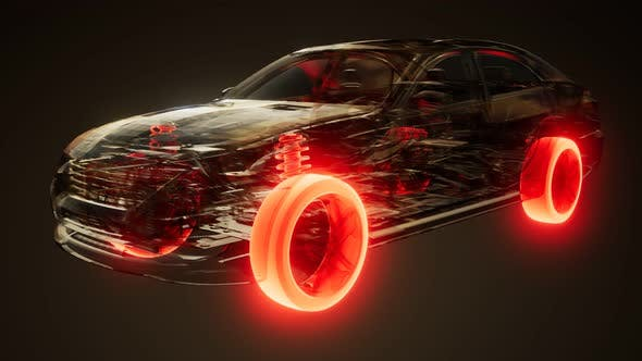Thumbnail for Car Wheels Glowing in Car