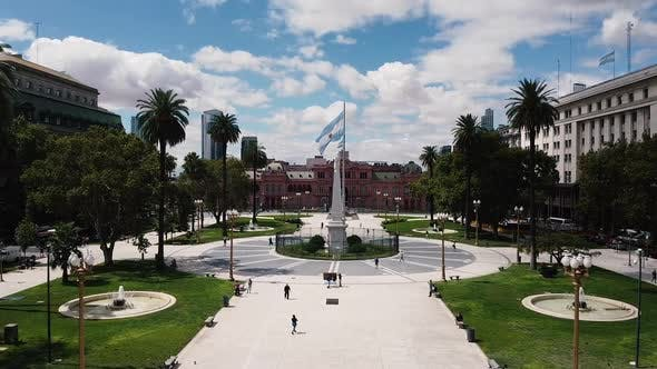 Plaza De Mayo From A Drone