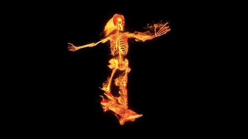 Burning 3D Skeleton - Skateboard 3