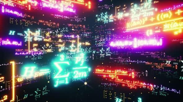 Thumbnail for Space Neon Math Formulas 4k