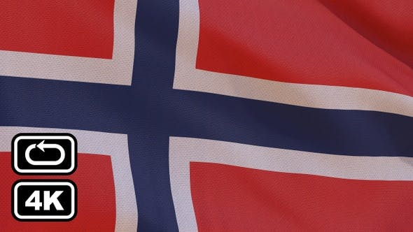 Thumbnail for Norway Flag 4K Seamless Loop