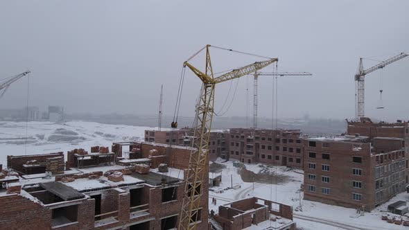 Thumbnail for Construction Of A Multi-storey Building In Winter
