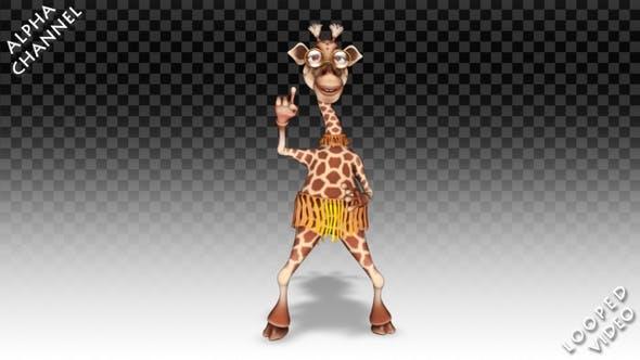 Thumbnail for Cartoon Giraffe - Break Dance