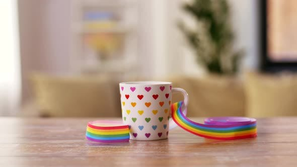 Thumbnail for Cup with Gay or Lgbt Pride Awareness Ribbon 1