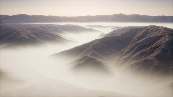 Thumbnail for Mountain Landscape with Deep Fog at Morning