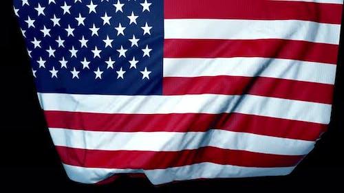 Usa  Unfolding Flag