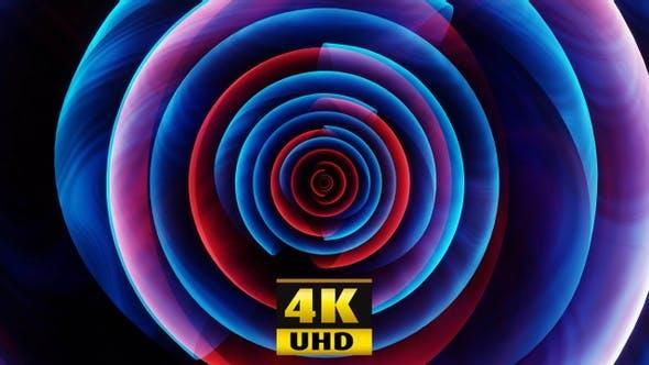 Abstract Rotation, Blue 4K