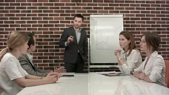 Thumbnail for Businessman Giving a Presentation