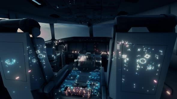 Air Plane Cockpit 4k