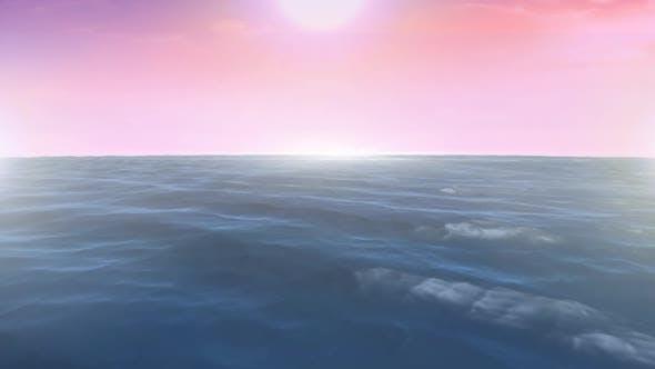 Calm ocean and the sky