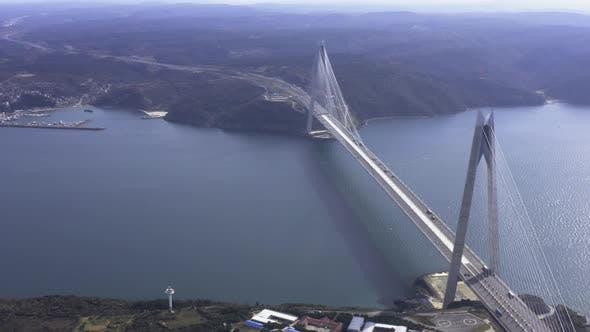 Thumbnail for Istanbul Yavuz Sultan Selim Bridge Aerial View 9