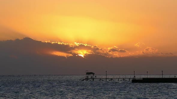 Thumbnail for Beauty Landscape with Sunrise Over Sea