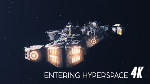 Space Ship Entering Hyperspace 4K