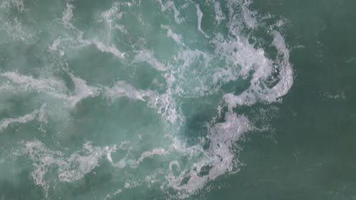 Ocean Sea Waves Aerial Drone